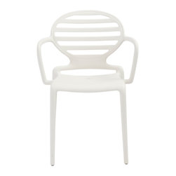 Eurostyle - Cokka Stacking Armchair (Set of 4) - Linen - Fiberglass reinforced recyclable polypropylene