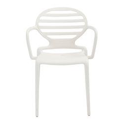 Eurostyle - Cokka Stacking Armchair (Set of 4) - Linen - Fiberglass reinforced recyclable polypropylene