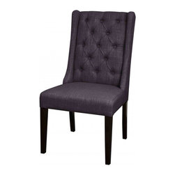 NPD (New Pacific Direct) Furniture - Ashton Dining Chair (Set of 2) by NPD Furniture, Coal - This stylish fabric Ashton dining chair (Set of 2) will be a great addition to your dining area.