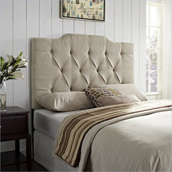 Samuel Lawrence Tufted Linen Headboard, Tan - This inviting headboard reminds me of a bird's nest, in a good way! It feels natural and organic, and I think I would have an easy time falling asleep against this beauty.