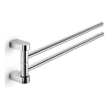 """WS Bath Collections - WS Bath Collections Muci Double Towel Rail 15.0"""" - Double Towel Rail in Polished Chrome"""