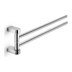 "WS Bath Collections - WS Bath Collections Muci Double Towel Rail 15.0"" - Double Towel Rail in Polished Chrome"