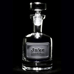Groomsmen Gift Ideas, Engraved Best Man Gifts - Engraved Groomsmen Whiskey Scotch Decanter, Personalized