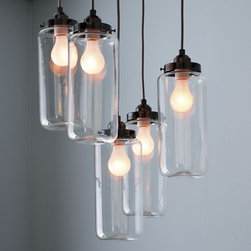5-Jar Chandelier - I have always admired these jar chandeliers from West Elm with clean lines and a great industrial feel. Pair them with some Edison bulbs and you will be set.