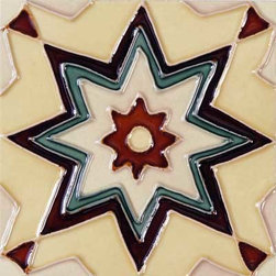 """Glass Tile Oasis - Maresol 6"""" x 6"""" Cream/Beige 6"""" x 6"""" Deco Tiles Glossy Ceramic - All ceramic tiles are hand painted. Glazed thickness will vary from tile to tile resulting in color variation. Hand Painted Ceramic tiles will craze and crackle over time which is intentional and a desired effect."""