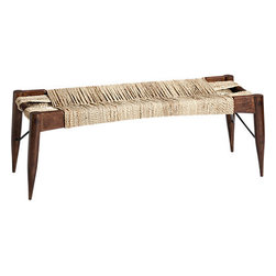 Wrap Bench - I love how unique this bench is. The shape and wrapped design are fun and new, but the materials are timeless enough to go with any decor. I would love to put this in my multilevel stairwell as a place to showcase books or slip on a pair of shoes.