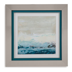 Bassett Mirror - Bassett Mirror Framed Under Glass Art, Coastal Currents I - Coastal Currents I