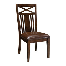 Standard Furniture - Standard Furniture Sonoma Side Chair in Oak (Set of 2) - Side Chair in Oak belongs to Sonoma collection by Standard Furniture. Simplistic dining in a rich finish that is casual and versatile. Quality veneers over wood products and select solids used throughout. Group may contain some plastic parts. Oak color finish. The casual look and feel of Sonoma will fit in easily with other styles in your home.