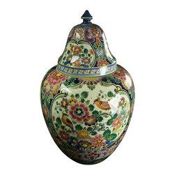 Velsen - Large Consigned Vintage 1940 Majolica Ginger Jar from Holland - Product Details