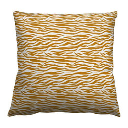 Guildery - Square Throw Pillow in Hide Small - Square knife edge throw pillow with invisible zipper. Fabric same both sides. Includes insert made of 90% duck feathers, 10% duck down, wrapped in 100% cotton.