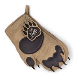 "Fred & Friends - Bear Hands Oven Mitts - Place Fred's grizzly-size oven mitts over your paws and beat the heat. You get a right and left mitt, constructed from insulated cotton with silicone ""pads."""
