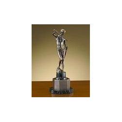 "John Richard 20x8x8 Bronze Statue On Marble Bse - 20""H X 8""W X 8""D Bronze Statue On Marble Base"