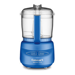 Cuisinart Mini Food Processor Chopper Grinder Sapphire - The Cuisinart Mini-Prep Plus is the perfect little helper for small food preparation  from chopping herbs or bread crumbs  to finely grinding hard cheese. Its versatility lies in the special Auto Reversing Smart Blade  which makes it easier to process both soft and hard foods.Designed in Italy with the same look as Cuisinart's newly launched PowerPrep Plus  the Mini-Prep Plus' sleek touch pad controls afford easy cleaning and an elegant look. And despite its space-saving size  it's more powerful than other choppers. So now you can prepare small quantities of food faster and more efficiently than ever before.  Product Features      Chop or grind at the touch of a button   24-ounce (3 cup) work bowl with handle   Exclusive auto-reversing SmartPower blade for two powerful processing options   Touchpad controls are easy to use and easy to clean Dishwasher-safe parts   Stainless steel blade with sharp and blunt edges BPA Free   Limited 18-month warranty