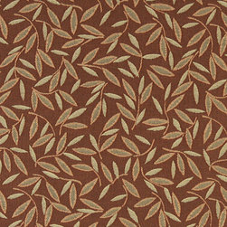 Nutmeg Floral Leaf Residential And Contract Grade Upholstery Fabric By The Yard - P0352 is great for residential, commercial, automotive and hospitality applications. This contract grade fabric is Teflon coated for superior stain resistance, and is very easy to clean and maintain. This material is perfect for restaurants, offices, residential uses, and automotive upholstery.