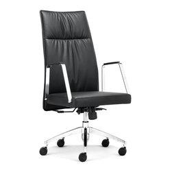 ZUO MODERN - Dean High Back Office Chair Black - Dean High Back Office Chair Black