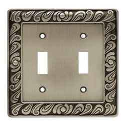 Liberty Hardware - Liberty Hardware 64039 Paisley WP Collection 4.96 Inch Switch Plate - The Paisley design adds a glamorous feel to every room with its tear drop design. The pewter finish brings distinguished style and old world feel to any room. Fasteners are included and sized to fit standard electrical boxes. This family is available in the 10 most popular wall plate configurations. Width - 4.96 Inch, Height - 4.9 Inch, Projection - 0.3 Inch, Finish - Brushed Satin Pewter, Weight - 0.54 Lbs.