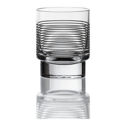 Bomma - 3.2.1 Collection 6.8 oz High Ball Glass - Set of 4 - Set of 4 - The 3.2.1 7 oz. crystal low ball tumbler is a stylish choice for enjoying your next libation and conveniently come packed with four glasses per set.  About the design of 3.2.1, designer Jeff Miller said, In conceiving of a contemporary collection of crystal I wanted to strip away a lot of the pomp and let the flowing vessels of clarity speak for themselves. The decanters' rounded triangular bases afford complementary juxtaposition, and the seamless vertical morphing of that triangle into a circular column is what gives the collection its name and essential character.