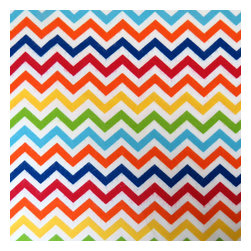 """SheetWorld - SheetWorld Crib Sheet Set, Primary Chevron - This 100% cotton flannel"""" crib / toddler sheet is made of the highest quality fabric that's double napped. That means these sheets are the softest and most durable. Sheets are made with deep pockets and are elasticized around the entire edge which prevents it from slipping off the mattress- thereby keeping your baby safe. These sheets are so durable that they will last all through your baby's growing years. We're called sheetworld because we produce the highest grade sheets on the market today. Features a bright and colorful 1/4"""" primary chevron print. Size: 28 x 52. Set includes 1 fitted sheet- 1 flat sheet- and 1 todder size pillow case."""" Made in the USA."""
