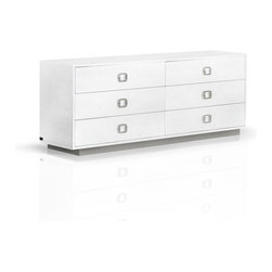 Crocodile Textured Dresser - You'll be hard pressed to decide which room is the best to showcase the Crocodile Textured Dresser. With ample storage space and an elegant lacquer finish, we think this dresser could easily double as a media unit. Six spacious drawers keep everything organized, while the subtle crocodile texture adds a luxe touch to a sturdy and practical piece of well-crafted furniture.