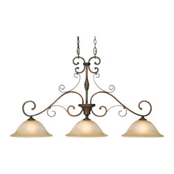 Golden Lighting - Golden Lighting 3890-ID3 GB Id3 Traditional Classic Three Light Island Billiard - Golden Lighting specializes in the design and manufacture of high quality residential lighting products and accessories.