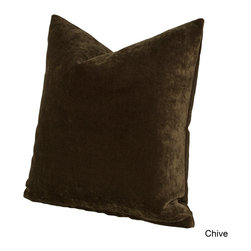 SIScovers - Padma Polyester Throw Pillow - This ultra soft solid-colored decorative pillow has a luxurious,clipped chenille texture and a removable cover for easy cleaning. With the wide variety of color options,the Padma throw pillow makes the perfect accent to any color scheme.