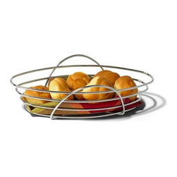 Spectrum Diversified Designs - St. Louis Bread Basket - Inspired by the iconic Midwestern arch, the St. Louis Bread Basket makes an excellent serving dish or centerpiece to any kitchen or dining room table. This basket is ideal for holding and serving bread, rolls, muffins and pastries. Made of sturdy steel, its unique design will add a contemporary touch to your home as it would at an elegant restaurant.