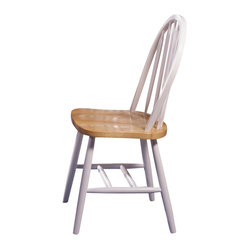 Steve Silver Arrowback Side Chair in White (Set of 2)