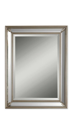 Uttermost - Jansen Silver Mirror - Classic and elegant — you can't go wrong with this one. The beveled mirror is encased in an antique silver leaf frame and has decorative leaf accents in each of the four corners. It's simple enough to blend with any decor.