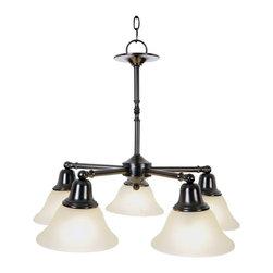 Premier - Five Light -15.5 inch Pendant Fixture - Oil Rubbed Bronze - Premier 617236 24in. W by 20in. H Sonoma Decorative Vanity Fixtures 5 Light Chandelier, Oil Rubbed Bronze.