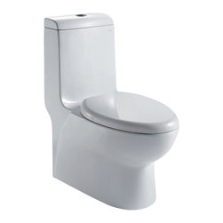 Ariel - Ariel Royal CO1038 Dual Flush Toilet 28x14x32 - Ariel cutting-edge designed one-piece toilets with powerful flushing system. It's a beautiful, modern toilet for your contemporary bathroom remodel.