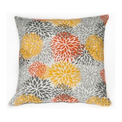 5 Surry Lane - Multi Floral Indoor Outdoor Pillow - Good luck deciding where this pillow is going to land. It would really simplify your life if it didn't work both indoors and out, but alas, it does. Your couch is going to be very jealous of your chaise lounge.