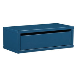 slice blue wall mounted storage shelf -