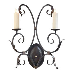 EuroLux Home - New 2-Light Wall Sconce Iron Hand-Crafted - Product Details