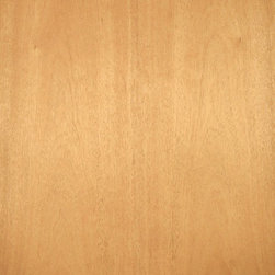 Flat Cut Khaya Veneer - Plain sliced Khaya veneer is a nice pinkish brown to reddish brown medium grain wood with excellent staining and finishing qualities. It is often used in place of Honduras mahogany. Available in a variety of backers and sizes.