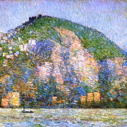 """Frederick Childe Hassam Telegraph Hill - San Fraicisco   Print - 16"""" x 16"""" Frederick Childe Hassam Telegraph Hill - San Fraicisco premium archival print reproduced to meet museum quality standards. Our museum quality archival prints are produced using high-precision print technology for a more accurate reproduction printed on high quality, heavyweight matte presentation paper with fade-resistant, archival inks. Our progressive business model allows us to offer works of art to you at the best wholesale pricing, significantly less than art gallery prices, affordable to all. This line of artwork is produced with extra white border space (if you choose to have it framed, for your framer to work with to frame properly or utilize a larger mat and/or frame).  We present a comprehensive collection of exceptional art reproductions byFrederick Childe Hassam."""