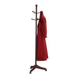 Winsome Wood - Winsome Wood Coat Tree w/ 6 Pegs - Offer your guests a place to hang their hat with this attractive coat rack. Features 6 pegs for holding coats, scarves, hats and more. Coat Tree (1)