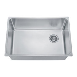 """Dawn - Dawn®  DSU2517 Undermount Single Bowl Sink (26.5"""" x 18"""" x 10.5) - *304 Type Stainless Steel-Premium grade of stainless steel, the best formulation for residential sink manufacturing; non-porous, hygienic, rust-free, and durable"""