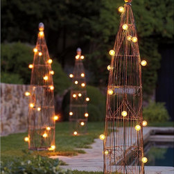 Wire Garden Trellis - Training outdoor plants can be quite the task, but with these wire garden trellis it should be a walk in the park. They're quite chic as well, which is an added bonus during those months you await for your plants to grow in full.