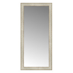 """Posters 2 Prints, LLC - 17"""" x 36"""" Libretto Antique Silver Custom Framed Mirror - 17"""" x 36"""" Custom Framed Mirror made by Posters 2 Prints. Standard glass with unrivaled selection of crafted mirror frames.  Protected with category II safety backing to keep glass fragments together should the mirror be accidentally broken.  Safe arrival guaranteed.  Made in the United States of America"""