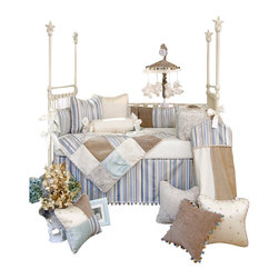 Glenna Jean - Preston Crib Bedding Set 3-Piece Set - The Preston Crib Bedding Set by Glenna Jean is available as a 3-Piece, 4-Piece, or 5-piece set.
