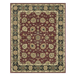 "Loloi Rugs - Loloi Rugs Maple Collection - Red / Black, 5' x 7'-6"" - Transform your home into a manor steeped in elegance and tradition with the majestic Maple Collection. These timeless Persian designs carry the rich heritage of centuries of carpet making in each arabesque, stylized flower and intricate border. Maple Collection rugs are hand-tufted in India of 100-percent wool so they are eco-friendly and mindfully crafted with sustainable materials. With colors as rich as these, you will feel like nobility every time you walk into your home."