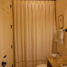 Traditional Bathroom by Camille Moore Window Treatments & Custom Bedding