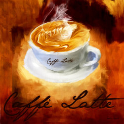 Caffe Latte - A wonderful Collection of Coffee Art which is elegantly and classically designed to complement any cafes, modern, contemporary and traditional kitchens perfectly.