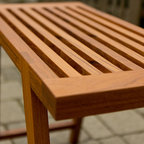 Teak Bench - Top detail.