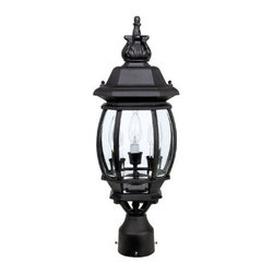 Capital Lighting - Capital Lighting 9865 3 Light Outdoor Post Fixture - Capital Lighting 3 Light Outdoor Post Fixture from the French Country Collection
