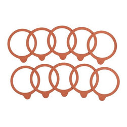 Weck Medium Rubber Replacement Seals Sets of Ten - Single-use rubber gasket seals extend the life of Weck's classic glass canning jars.