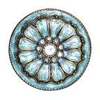 Charleston Knob Company - SET OF 2 Fancy Knobs - Jewel Cloisonne Blue - Puttin' on the Glitz is fun