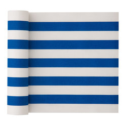 MYdrap - Cotton Striped Napkin, Royal Blue Stripe - - MYdrap Cotton Printed Luncheon Napkins on a Roll are made of 100% cotton.