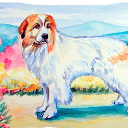 Caroline's Treasures - Great Pyrenees Fabric Standard Pillowcase Moisture Wicking Material - Standard White on back with artwork on the front of the pillowcase, 20.5 in w x 30 in. Nice jersy knit Moisture wicking material that wicks the moisture away from the head like a sports fabric (similar to Nike or Under Armour), breathable performance fabric makes for a nice sleeping experience and shows quality.  Wash cold and dry medium.  Fabric even gets softer as you wash it.  No ironing required.