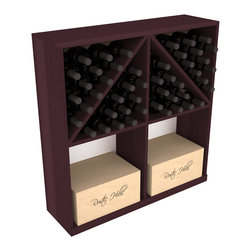 Wine Racks America - Solid Case/Bottle Storage Bin in Redwood, Burgundy - Store cases and bottles together in our versatile and durable option from the bottle bin storage family. Easy assembly and bottle loading makes this rack perfect for any collector. Made from high quality solid pine or redwood, this wine bin is built to last. That is guaranteed.